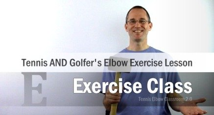 Tennis Elbow Exercise Lesson Module
