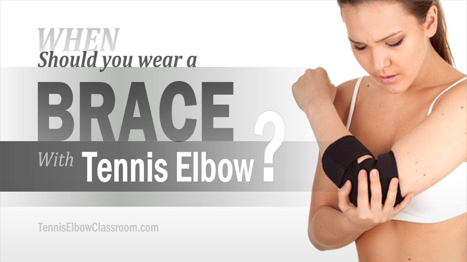 When is the right time or place to wear a Tennis Elbow support?