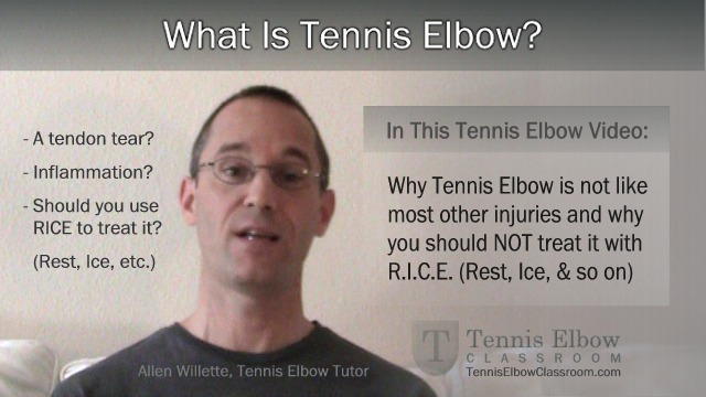 Image: About Tennis Elbow - What kind of injury is it?
