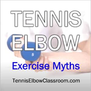Image: Exercises For Tennis Elbow - Hand using small dumbell
