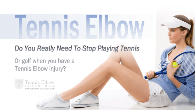 playing golf with tennis elbow
