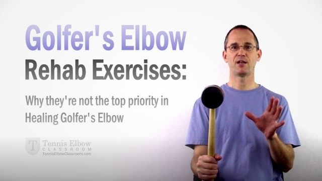 Are Golfers Elbow exercises a priority when it comes to healing?