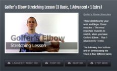Image of Golfers Elbow Stretching Module