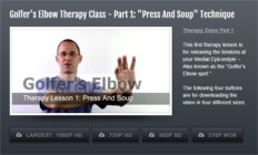Image of 1st Golfers Elbow Therapy Lesson Module