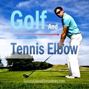 Image of golfer with Tennis Elbow