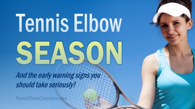 Tennis Elbow season: Watch out for the warning signs of injury