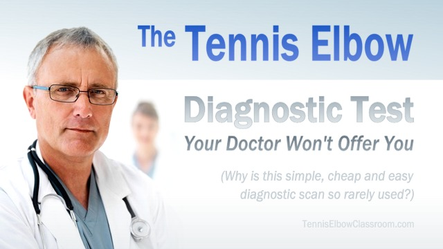 Sonogram scan test for Tennis Elbow graphic