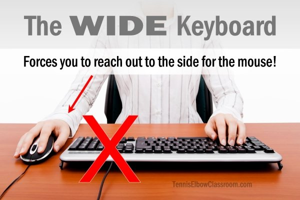 The typical wide keyboard and its poor Ergonomics