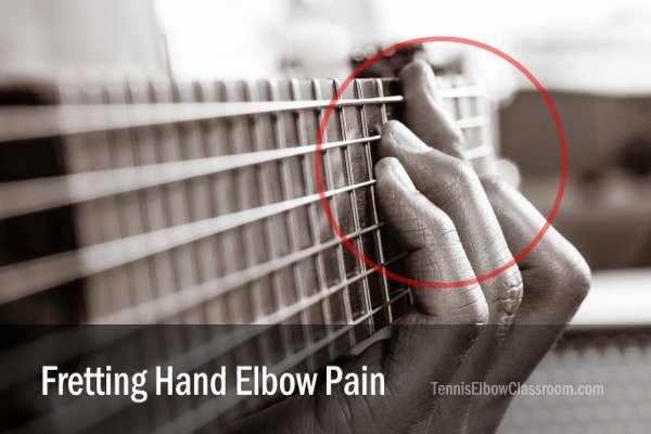 Wrist or elbow pain on the guitar fretting hand side