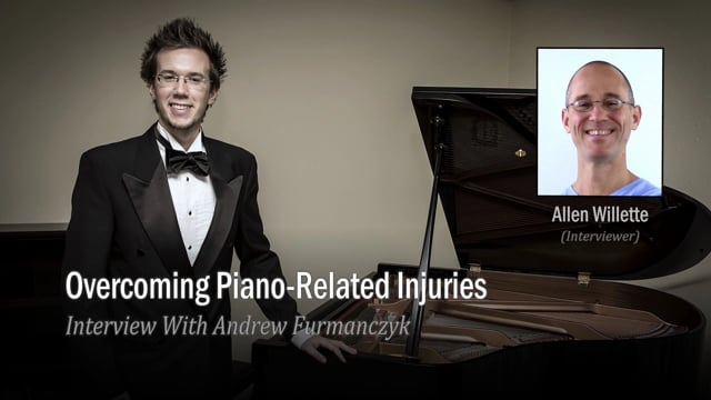 Video thumbnail for Vimeo video of Pianist Andrew Furmanczyk sharing his Golfer's Elbow story